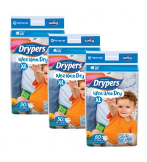 Drypers Wee Wee Dry Mega XL50 (3packs)