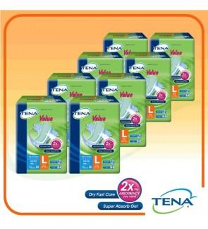 TENA Value Large 10's x 8