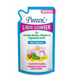 Pureen Liquid Cleanser 600ml - Mint Flavour