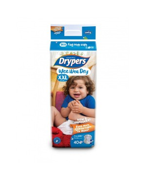 Drypers Wee Wee Dry Mega S82/M74/L62/XL50/XXL40 (1pack)