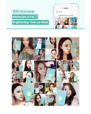 Wonjin Effect Lightening Tone-Up Mask (10pcs)