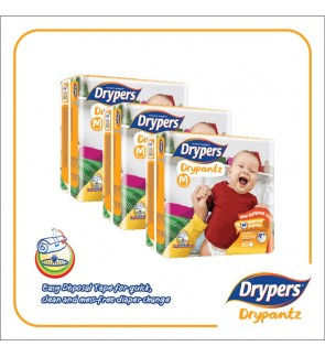 Drypers DryPantz M60/L48/XL42/XXL36 (3Packs)